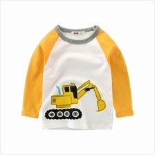 Boy'S Long Sleeve T-Shirt Baby Bottoming Shirt (WHITE)