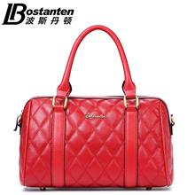 Bostanten Cow Leather HandBag Bowling Tote Bag