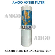 AMGO OLSMO PURE Water Filter T33 GAC Carbon Filter For Water Purifier