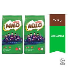 NESTLE MILO ACTIV-GO CHOCOLATE Softpack 1kg - Barcelona, Bundle of 2)