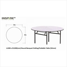 L1200 x D1200(mm) Round Banquet Folding/Foldable Table (32mm)