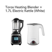 Toros Heating Blender + 1.7L Electric Kettle(White)