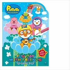 Pororo Fun Day with Friends Colouring Book