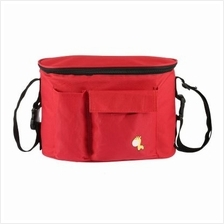 Multi-functional Baby Stroller Storage Mummy Bag (RED)