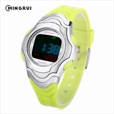 MINGRUI 8518 KIDS DIGITAL MOVT WATCH LED LIGHT DATE DAY CHRONOGRAPH DISPLAY 3A