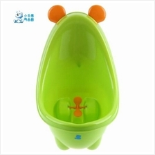 SNOW BEAR CUTE SOLID COLOR CARTOON CHILD STANDING TYPE URINAL (GREEN)