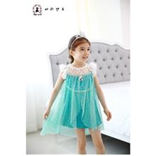 Frozen Princess Elsa Fancy Tulle Dress-Ready Stock
