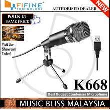 FIFINE K668 USB Microphone,Plug and Play Home Studio USB Condenser Mic