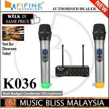 FIFINE K036 UHF Dual Channel Wireless Handheld Microphone, Vocal Mic