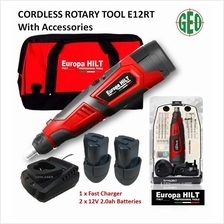 EUROPA HILT 12V CORDLESS ROTARY TOOL WITH 50PC ACCESSORIES