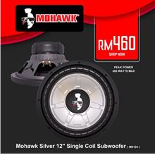 Mohawk Silver 12' Single Coil Subwoofer, 450W ( MS124 )