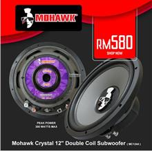 Mohawk Crystal 12' Double Coil Subwoofer, 300W ( MC1244 )