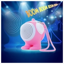 BLUETOOTH 3.0 SPEAKER WITH MIC VOLUME CONTROL HANDSFREE CALL FUNCTION (PINK)