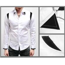 SALE!!! D.HOMME KOREAN ELEGANT DOVETAIL-STRIPE SHIRT