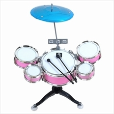 Children's Percussion Instrument Jazz Drum Combination Set (PINK)