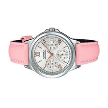 Casio Ladies Multi Hands Pink Leather Dress Watch LTP-V300L-4A2UDF