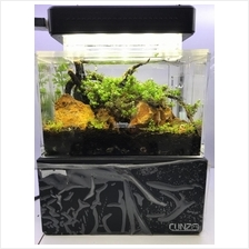Mini Aquarium Tank - White / Black Color (13 x 7.5 x 8cm)