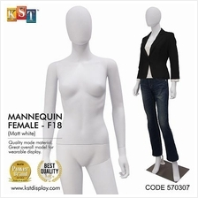 Mannequin Female Full Body Matte White For Clothes Garment Display