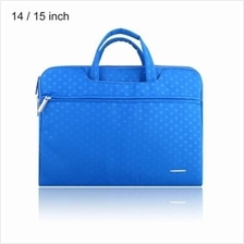 SSIMOO S818 2 IN 1 DOT PATTERN LAPTOP BAG TABLET ZIPPER POUCH SLEEVE FOR MACBO