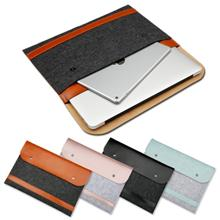 13.3-inch Felt PU Notebook Bag For MacBook Air / Pro (GRAY CLOUD)
