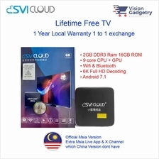 Svi Cloud Malaysia Version Android TV Box Lifetime IPTV MSIA MCMC Cert