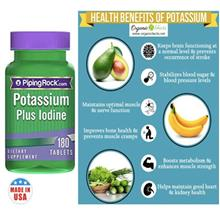 Potassium + Iodine, 180 Tablets (Made In USA)