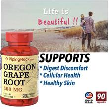 Oregon Grape Root 500mg, 90 Caps (Skin, Psoriasis, Digestion) USA