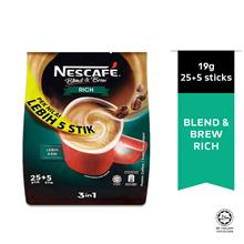 NESCAFE Blend and Brew Rich 19g Each 25+5 Sticks