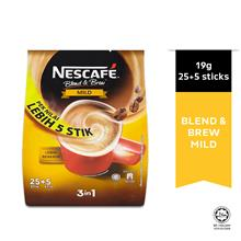 NESCAFE Blend and Brew Mild 19g Each 25+5 Sticks