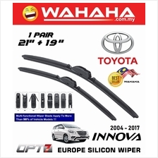 "TOYOTA INNOVA 2004 - 2017 OPT7 Car EU Silicon Wiper 21"" + 19"""