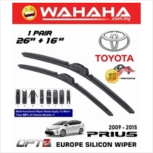 "TOYOTA PRIUS 2009 - 2015 OPT7 Car EU Silicon Wiper 26""+16"""
