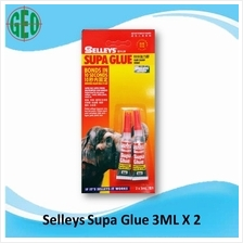 SELLEYS SUPA GLUE 3ML TWIN PACK