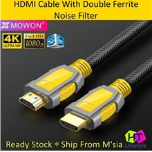 Mowon High Speed HDMI Cable V2.0, 4K, 3D With Double Ferrite Filter