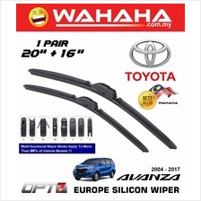"TOYOTA AVANZA 2004 - 2017 OPT7 Car EU Silicon Wiper 20""+16"""