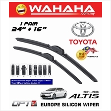 "TOYOTA ALTIS 2001 - 2008 OPT7 Car EU Silicon Wiper 24"" + 16"""