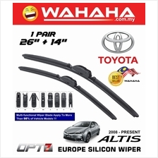 "TOYOTA ALTIS 2008 - Latest OPT7 Car EU Silicon Wiper 26""+14"""