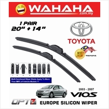 "TOYOTA VIOS 2003 - 2007 OPT7 Car EU Silicon Wiper 20""+14"""