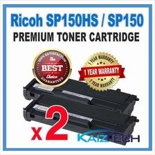 Premium 2 Units Ricoh Aficio SP150 Series Compatible Toner Cartridge 1 5k  High