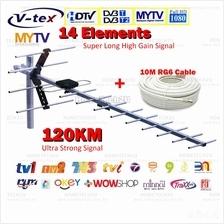 [NEW Upgrade] V-tex High Gain UHF MYTV Digital Outdoor TV Antenna Aeri