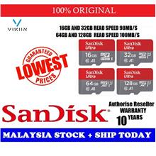 SanDisk 100MB/S ULTRA A1 Class 10 Micro SD Memory Card 32GB/64GB/128GB