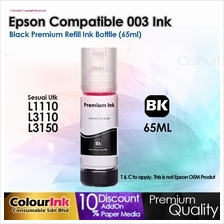 Epson Compatible 003 V100 Black Refill Ink Bottle L1110/L3110/L3150/L5190  V200