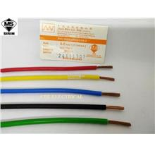 MULTI 6mm (7/1.04mm) PVC POWER Cable 100% Copper JKR SIRIM - Meter