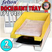 FELTON 2 Tiers Document Tray FPT 940 for Home / Office Organizer