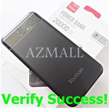 (QC 3.0) ORIGINAL YOOBAO S20Q 20000mAh Power Bank iPhone XS Max XR X 8