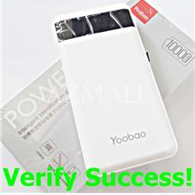 ORIGINAL YOOBAO 10000mAh P10000L LED Power Bank iPhone XS XR X 8 7 6 5
