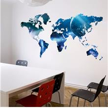 Global Planet World Map Wall Sticker Art Decal Oil Paintings 1