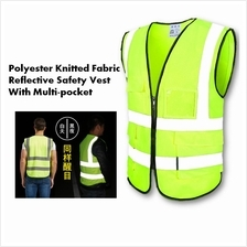 High Quality Polyester Knitted Fabric Reflective Safety Vest