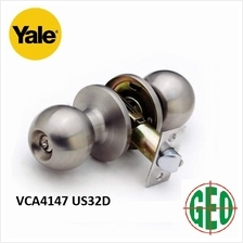 YALE STAINLESS STEEL CYLINDRICAL KNOBSET ENTRANCE FUNCTION