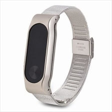 D.MRX HOOK BUCKLE WATCH BAND FOR XIAOMI MIBAND 2 (SILVER)