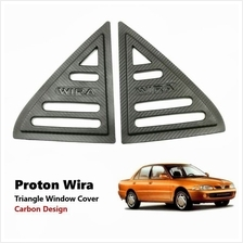 Popular Proton Wira 3D Carbon Window Triangle Mirror Cover